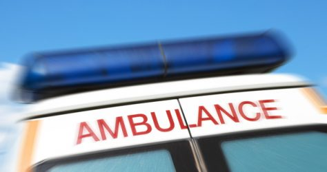 Closeup,Of,Sign,On,Ambulance,With,Zoom,Effect